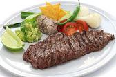 Arrachera, mexican spiced skirt steak — Stock Photo