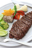 Arrachera, mexican spiced skirt steak — Stock Photo