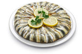 Anchovy pilaf(hamsi pilav), Turkish cuisine, Black Sea specialty — Stock Photo