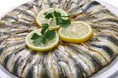 Anchovy pilaf(hamsi pilav), Turkish cuisine, Black Sea specialty — Stock Photo