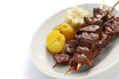 Anticuchos, Peruvian cuisine — Stock Photo