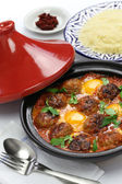 Kofta tajine, kefta tagine, moroccan cuisine — Stock Photo