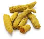Dried whole turmeric — Stock Photo