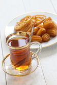 Iranian tea and sweets — Stock Photo