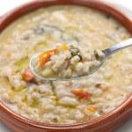 Постер, плакат: Spelt soup farro soup italian cuisine