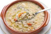Spelt soup, farro soup, italian cuisine — Stock Photo