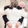 Funny Wedding Bride and Groom — Stock Photo