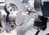 Cnc verspanen frezen metalen boren en snijden verwerking — Stockfoto