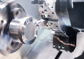 CNC Machining Milling Metal Drilling and Cutting Processing — Stock Photo