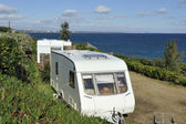 Camping at the seaside — Stock Photo