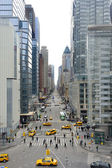Ve en 8th avenue en nueva york — Foto de Stock