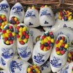 Mini ceramic wooden shoes — Stock Photo #16874139