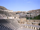 Roman amphitheater in Amman — Stock Photo