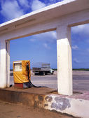Abandonment gas station — Stock Photo