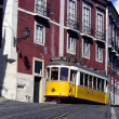 Yellow tram, Lisbon, Portugal — Stock Photo