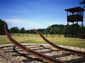 Watch post former dutch Camp Westerbork — Stockfoto