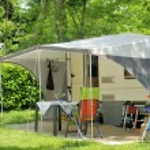 Caravan at a camp site — Stock Photo #30057841