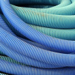 Coil of blue plastic — Stock Photo