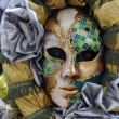 Beautiful mask at Carnival in Venice — Stock Photo