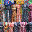 Rack of scarves — Foto Stock