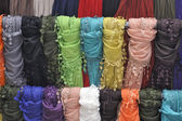 Rack of scarves — Stock Photo