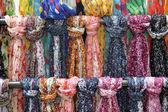 Rack of scarves — Stock Photo