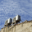 Air conditioners on an outside wall — Stock Photo #34312859