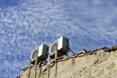 Air conditioners on an outside wall — Stock Photo