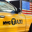 Yellow cab in NY — Stock Photo