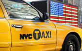 Taxi jaune à new york — Photo