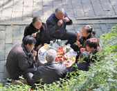 Chinese picknick — Stock Photo