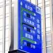 Road signs in China — Stock Photo