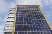 Solar Panel Apartment Building — Stock Photo