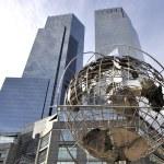 Globe at Columbus Circle Manhattan New York — Stock Photo