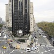 Looking North up Broadway from Columbus Circle — Stock Photo