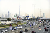 Traffic at the Sheikh Zayed Road — Stock Photo