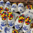 Decorated Porcelain Clogs — Stock Photo