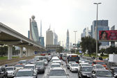 Rush hour in Dubai — Stock Photo