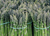 Bundles of green asparagus — Stock Photo
