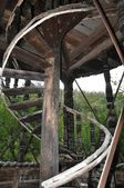 Posaga Monastery - Wooden stairs — Stock Photo