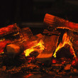 Wood burning fireplace — Stock Photo #16233925