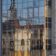 Old building reflection — Stock Photo