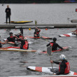 Canoe polo competition — Stock Photo #33866225