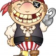 Pirate Costume Kid - Imagen vectorial
