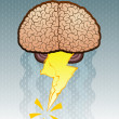 Brain Storm Cartoon Illustration — Stock Vector