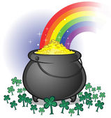Pot of Gold on Saint Patrick's Day — ストックベクタ
