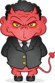 Evil Business Devil Cartoon Character — Stock Vector