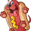 Stock Vector: Hot Dog Cartoon Character
