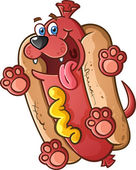 Hot Dog Cartoon Character — Stock Vector