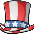 Uncle Sam Top Hat American Cartoon — Stock Vector #30256643